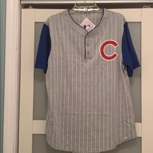 Majestic Cubs pinstriped henley